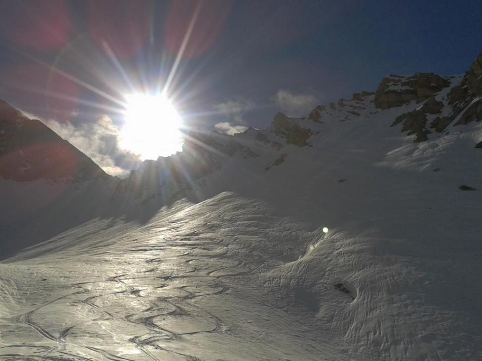 Harmelar 2224 m, Abfahrt übers Reither Kar